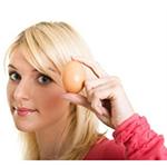 Маска +для волос +с яйцом