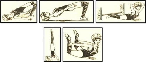 Картинки упражнения для осанки